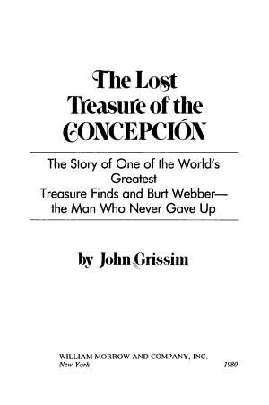 The Lost Treasure of the Concepcion