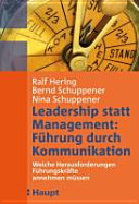 Leadership statt Management  F  hrung durch Kommunikation PDF