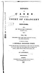 Reports of Cases Adjudged in the Court of Chancery of New York: Volume 7
