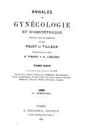 Annales de gynécologie et d'obstétrique: Volumes29à30