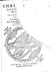 Christophori Clavii ... In Sphaeram Ioannis de Sacro Bosco commentarius: nunc iterum ab ipso auctore recognitus, & multis ac varÿs locis locupletatus
