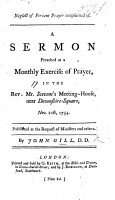 Neglect of fervent prayer complained of  A sermon  on Isai  lxiv  7   PDF