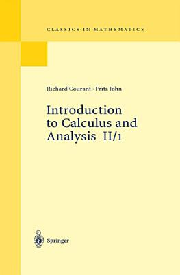 Introduction to Calculus and Analysis II 1 PDF
