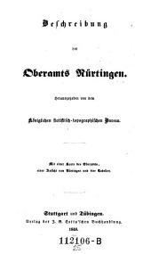 Beschreibung des Oberamts Nürtingen