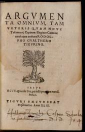 Argumenta Omnium, Tam Veteris Quam Novi Testamenti, Capitum Elegiaco Carmine conscripta