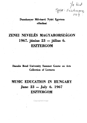 Music Education in Hungary PDF