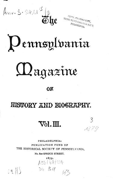 Download Pennsylvania Magazine of History and Biography0 Book