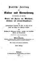 Praktische Anleitung zur Cultur u  Vermehrung der beliebtesten u  sch  nsten Genera u  Species von Warmhaus Kalthaus u  Freiland Topfpflanzen PDF