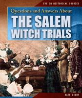 Questions and Answers About the Salem Witch Trials PDF
