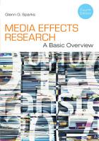 Media Effects Research  A Basic Overview PDF