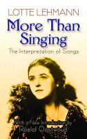 More Than Singing PDF
