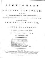 A Dictionary of the English Language     The fifth edition PDF