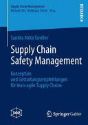 Supply Chain Safety Management PDF