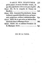 Histoire de l'admirable Don Quichotte de la Manche: traduite de l'espagnol ...
