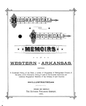 Biographical and Historical Memoirs of Western Arkansas PDF
