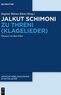 Jalkut Schimoni zu Threni  Klagelieder  PDF