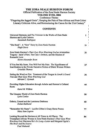 The Zora Neale Hurston Forum PDF