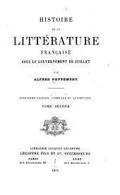 Histoire de la littérature française sous le gouvernement de juillet: Volume2