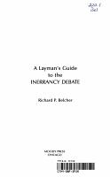 A Layman s Guide to the Inerrancy Debate PDF