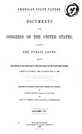 American State Papers: Documents, Legislative and Executive, of the Congress of the United States, Volume 33