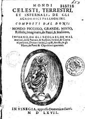 Mondi celesti, terrestri, et infernali, de gli academici Pellegrini,...