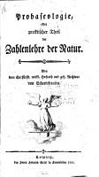 Probaseologie  oder  Praktischer Theil der Zahlenlehre der Natur PDF