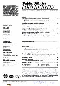 Public Utilities FORTNIGHTLY Vol  113 No  1 January 5  1984 PDF