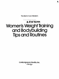 Women s Weight Training and Bodybuilding Tips and Routines PDF