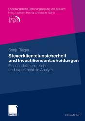 Steuerklientelunsicherheit und Investitionsentscheidungen PDF