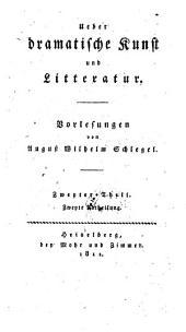 Ueber dramatische Kunst und Literatur, Vorlesungen. - Heidelberg, Mohr 1809-11