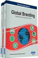 Global Branding  Breakthroughs in Research and Practice PDF