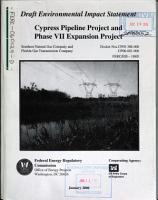 Cypress Pipeline Project and Phase VII Expansion Project PDF