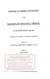 Journals of General Conventions: 1785-1821