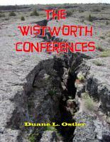 The Wistworth Conferences PDF