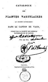 Catalogue des plantes vasculaires qui croissent naturellement dans le canton de Vaud