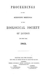 Proceedings of the Zoological Society of London (1832).: Volume 31