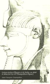 Lettres écrites d'Égypte et de Nubie, en 1828 et 1829 [ed. by J.J. Champollion-Figeac].