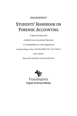Students Handbook on Forensic Accounting