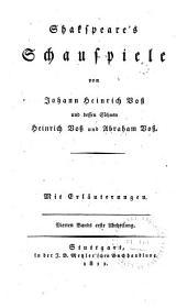 Shakspeare's Schauspiele: Abt. 2: König Heinrich der vierte, erster Theil. König Heinrich der vierte, zweiter Theil
