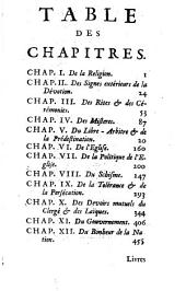 Pensées libres sur la religion, l'Église, et le bonheur de la nation: Volume1