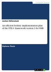 An efficient holistic implementation plan of the ITIL® framework version 3 for SMB