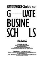 Barron s Guide to Graduate Business Schools PDF