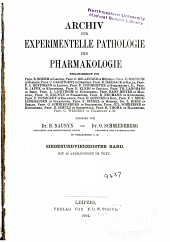 Archiv fu( ̃r experimentelle Pathologie und Pharmakologie: Band 47