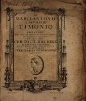 De Marci Antonii Trivmviri Timonio