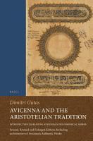 Avicenna and the Aristotelian Tradition PDF