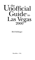 The Unofficial Guide To Las Vegas 2000 Book PDF