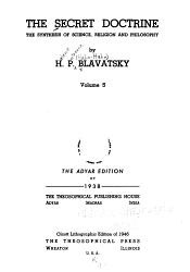 The Secret Doctrine Anthropogenesis Book PDF