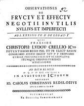 De fructu et effectu negotii inutilis nullius et imperfecti