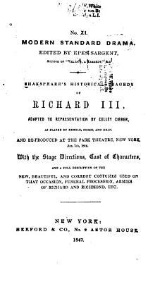 Shakspeare s Historical Tragedy of Richard III