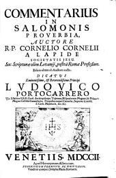 Commentarius in Salomonis proverbia